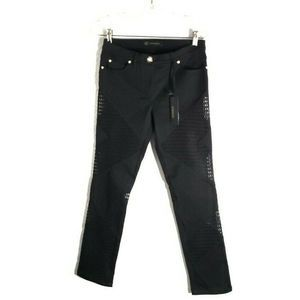 Versace Pantalone Black Mesh Jeans Size 28